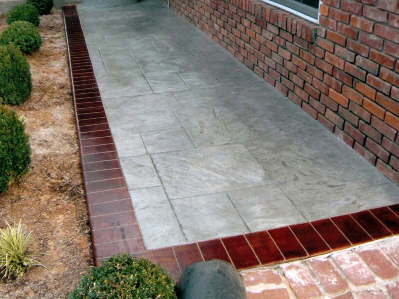 Pattern - Brick Border - Stamped Concrete
